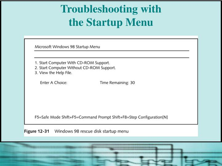 Troubleshooting with