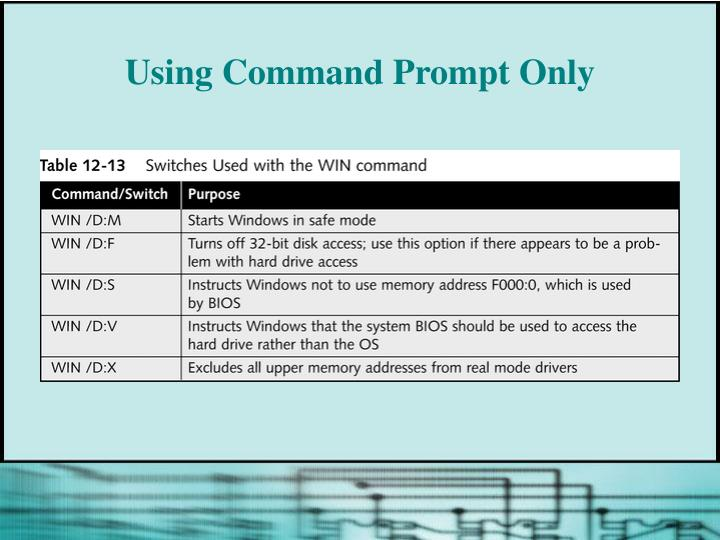 Using Command Prompt Only