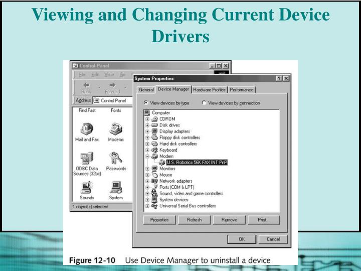 Viewing and Changing Current Device Drivers