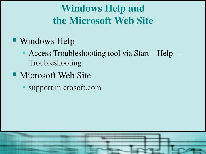 Windows Help and