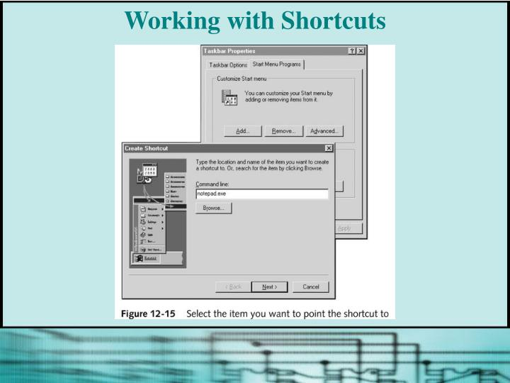 Working with Shortcuts