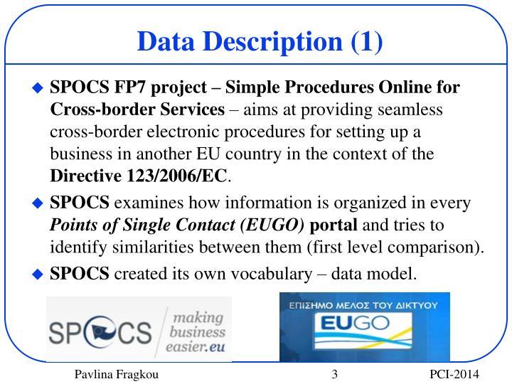 Data Description (1)