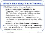 the isa pilot study its extension 2
