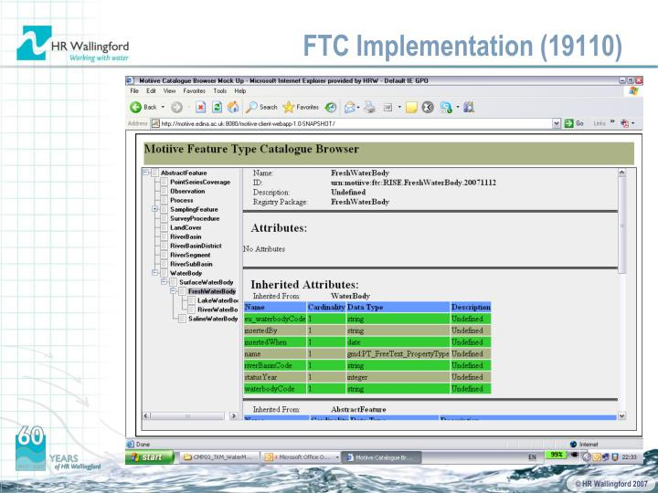 FTC Implementation (19110)