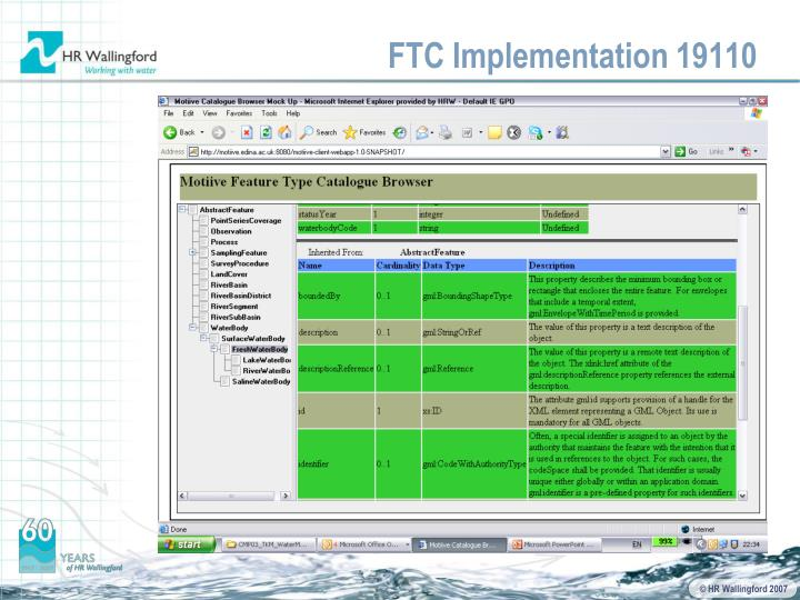 FTC Implementation 19110