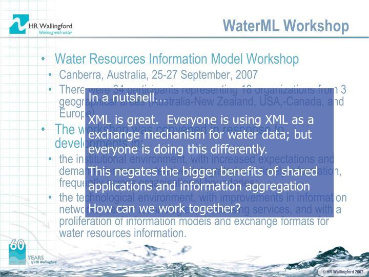 WaterML Workshop