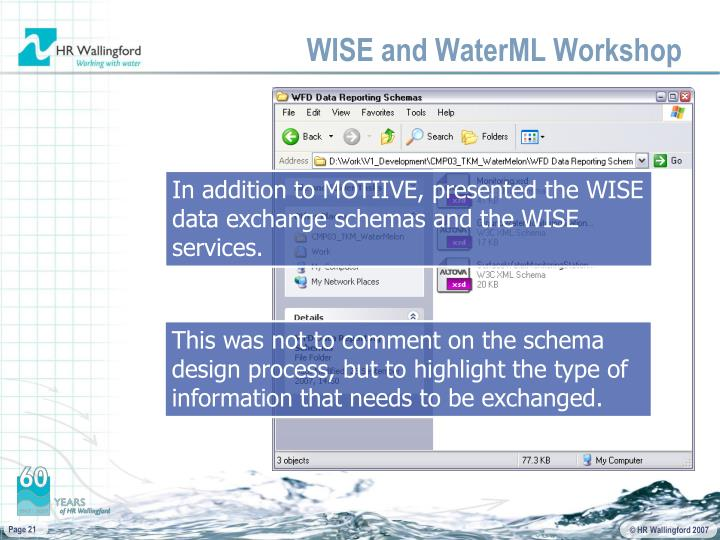 WISE and WaterML Workshop