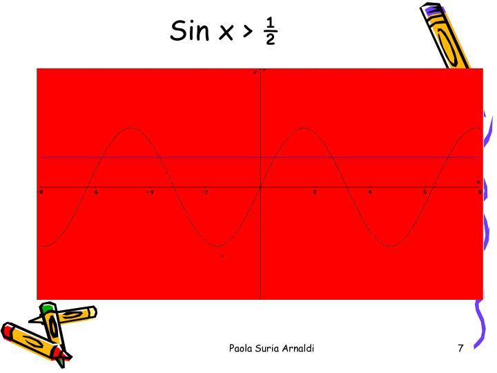 Sin x > ½