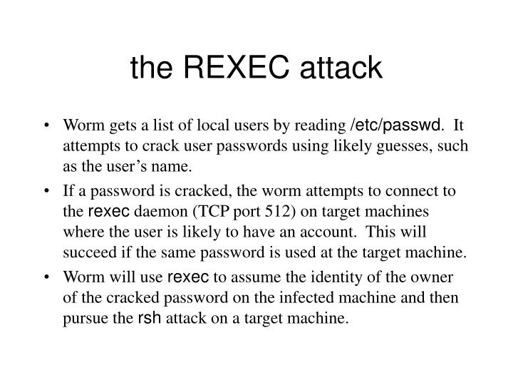the REXEC attack