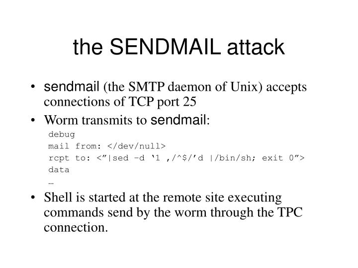 the SENDMAIL attack