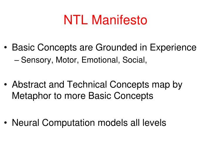 NTL Manifesto
