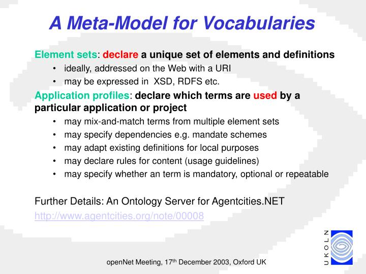 A Meta-Model for Vocabularies