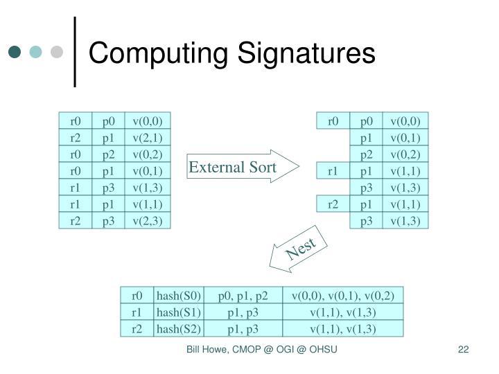 Computing Signatures