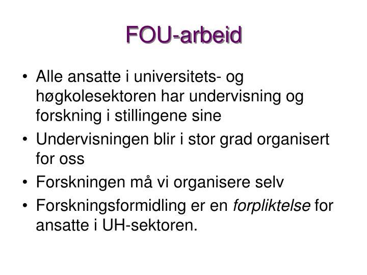 FOU-arbeid