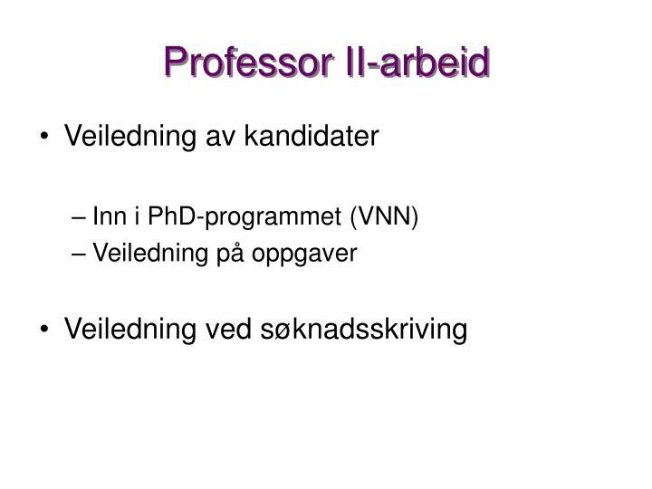 Professor II-arbeid