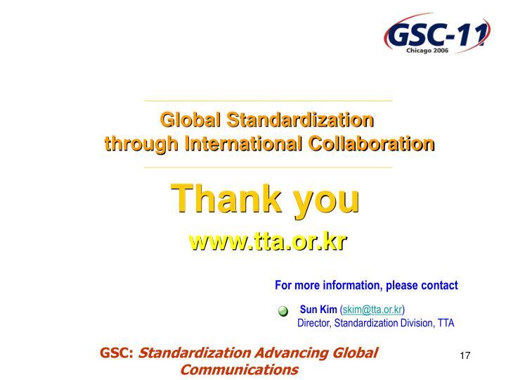 Global Standardization