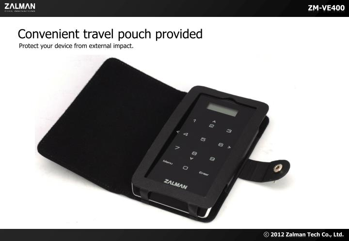 Convenient travel pouch provided