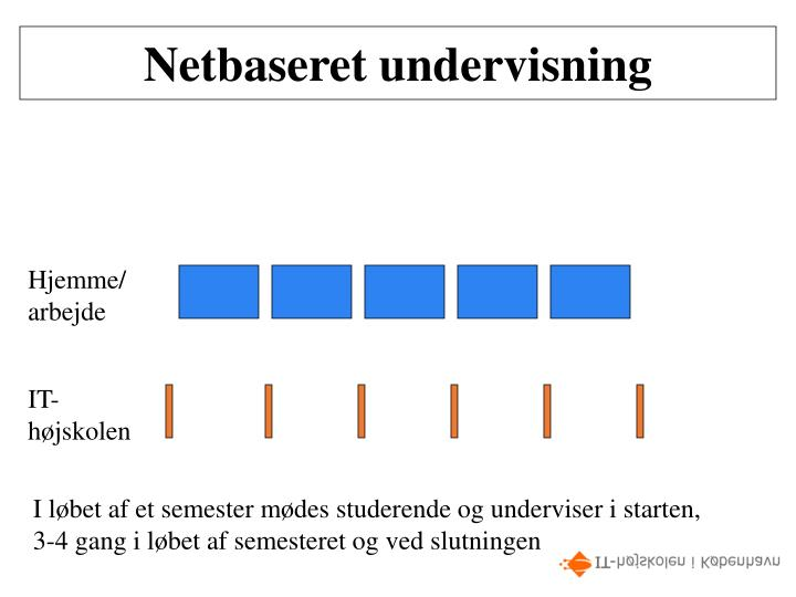 Netbaseret undervisning