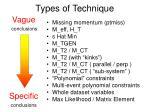 types of technique1