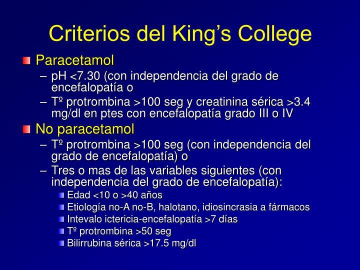 Criterios del King's College