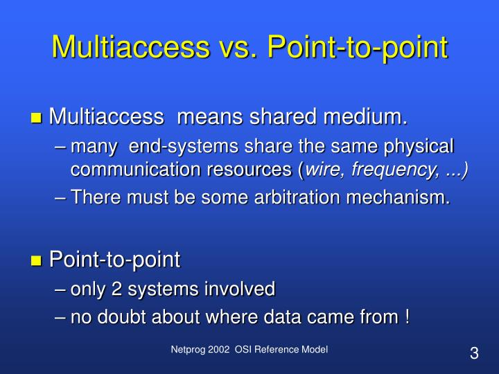 Multiaccess vs. Point-to-point