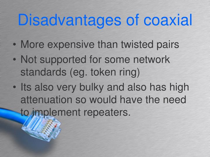 Disadvantages of coaxial