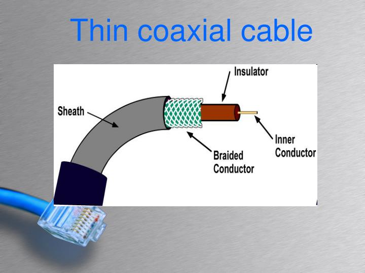 Thin coaxial cable