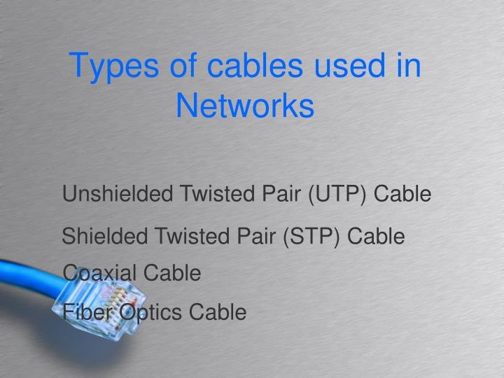Types of cables used in Networks