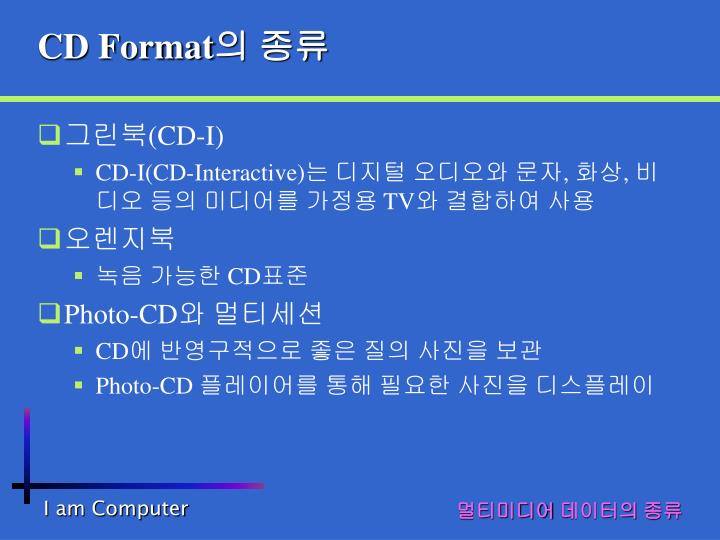 CD Format