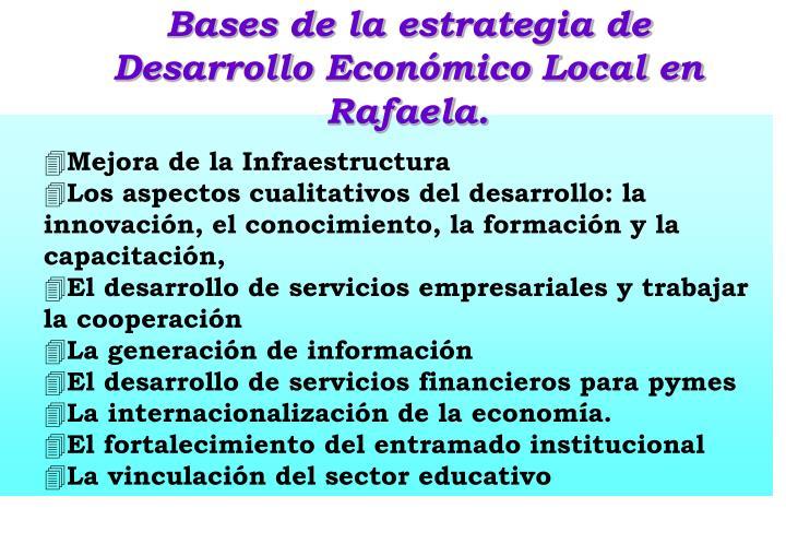 Bases de la estrategia de Desarrollo Económico Local en  Rafaela.