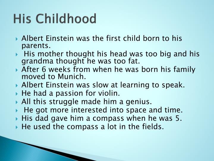 His Childhood