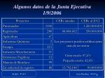 algunos datos de la junta ejecutiva 1 9 2006
