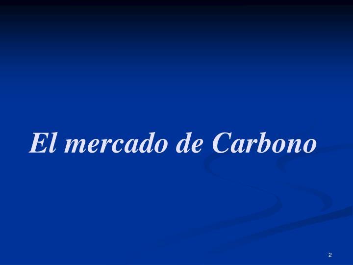 El mercado de Carbono