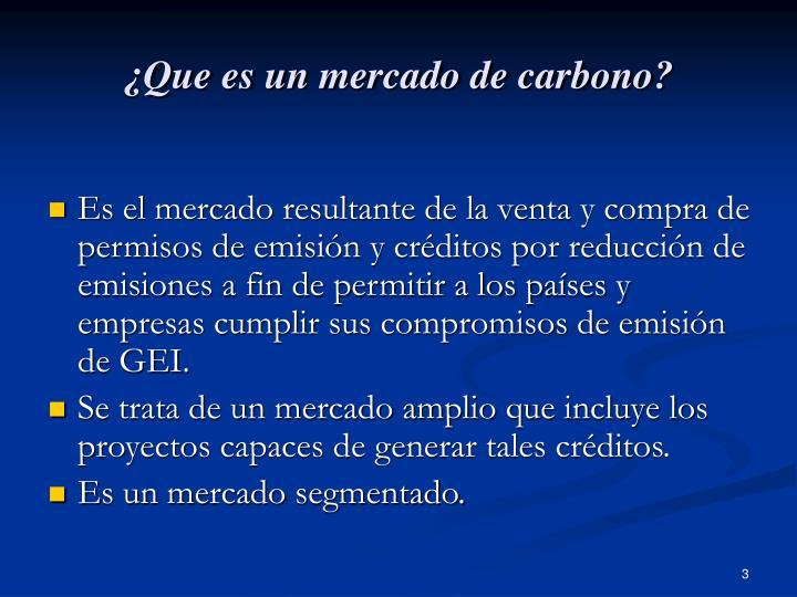 ¿Que es un mercado de carbono?
