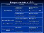 riesgos asociados a vers