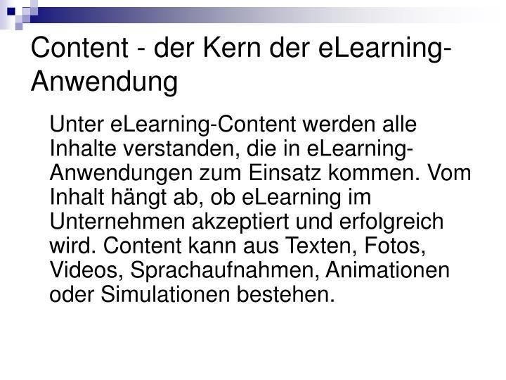 Content - der Kern der eLearning-Anwendung