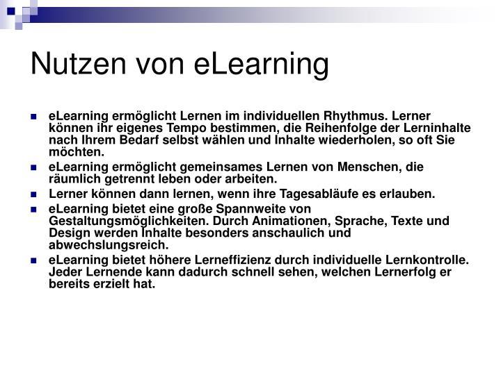 Nutzen von eLearning