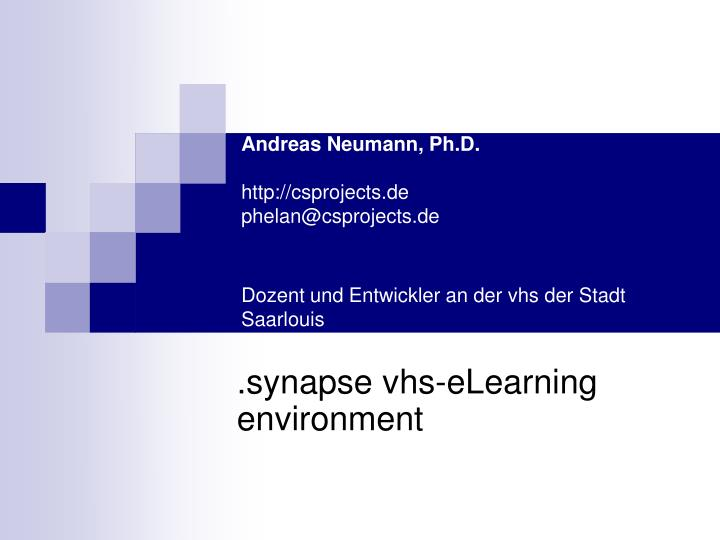 Andreas Neumann, Ph.D.