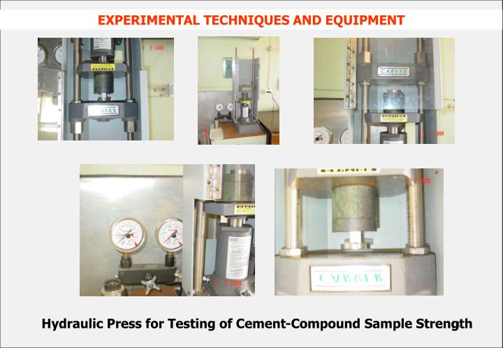 Hydraulic Press for Testing of Cement-Compound Sample Strength