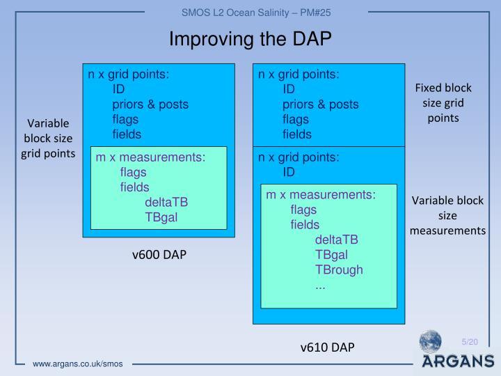Improving the DAP