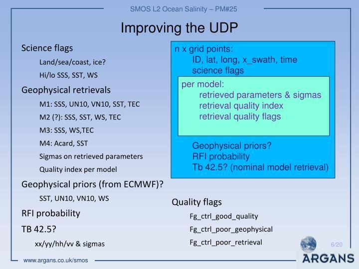 Improving the UDP