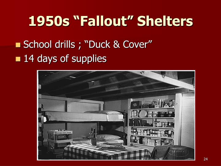 "1950s ""Fallout"" Shelters"