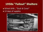 1950s fallout shelters