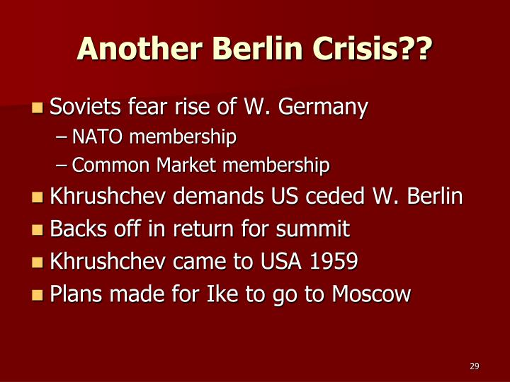 Another Berlin Crisis??