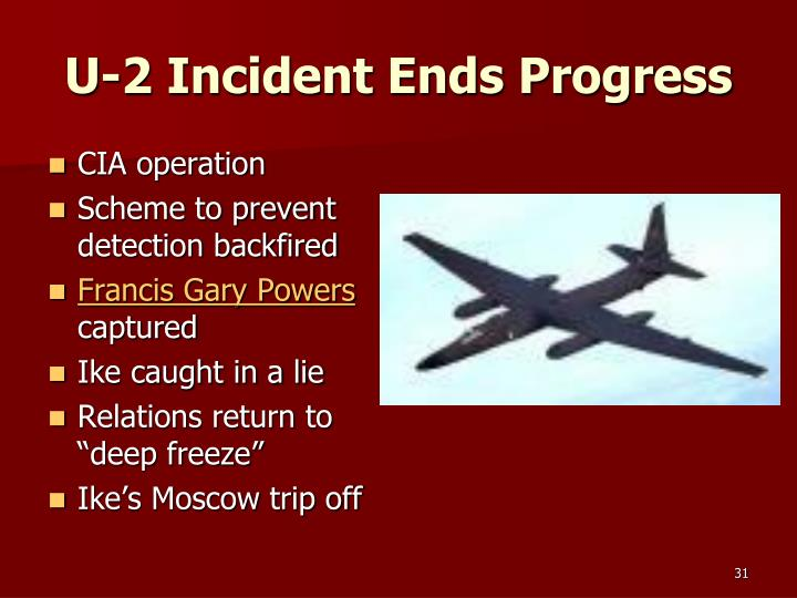 U-2 Incident Ends Progress