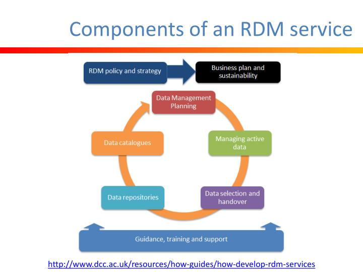 Components of an RDM service