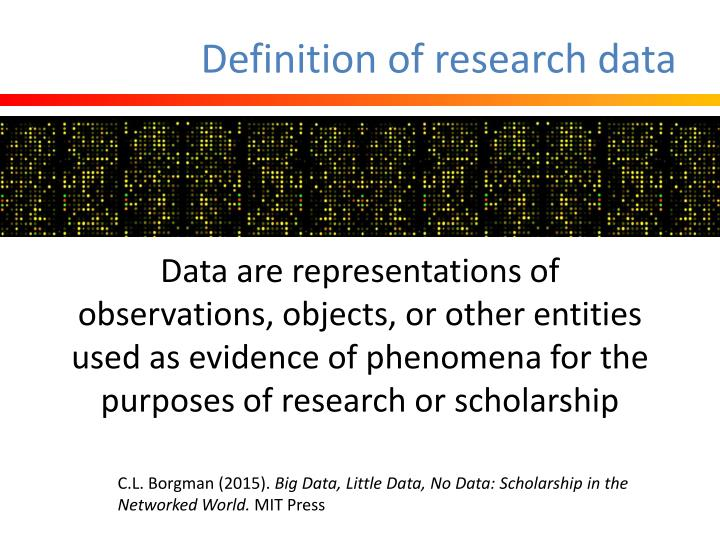 Definition of research data