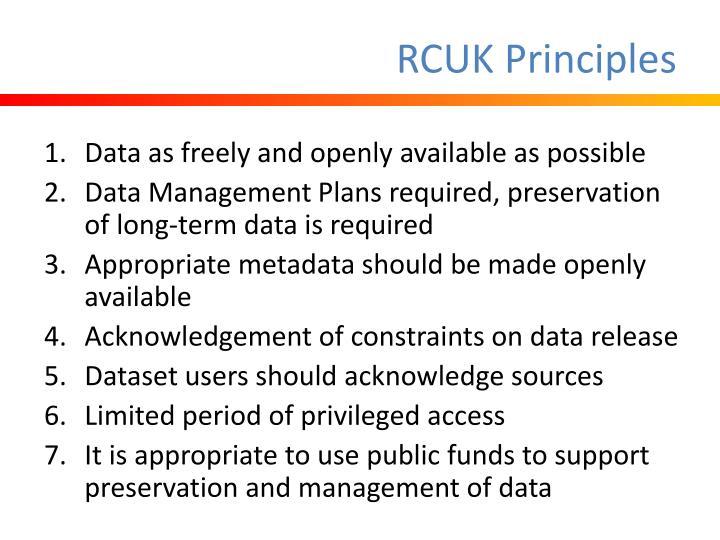 RCUK Principles
