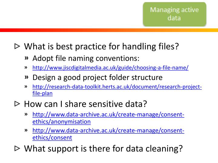 What is best practice for handling files?