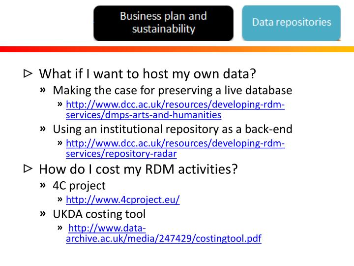 What if I want to host my own data?